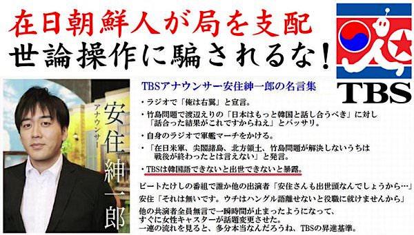 安住紳一郎アナ:TBSではハングル語をできないと出世できない