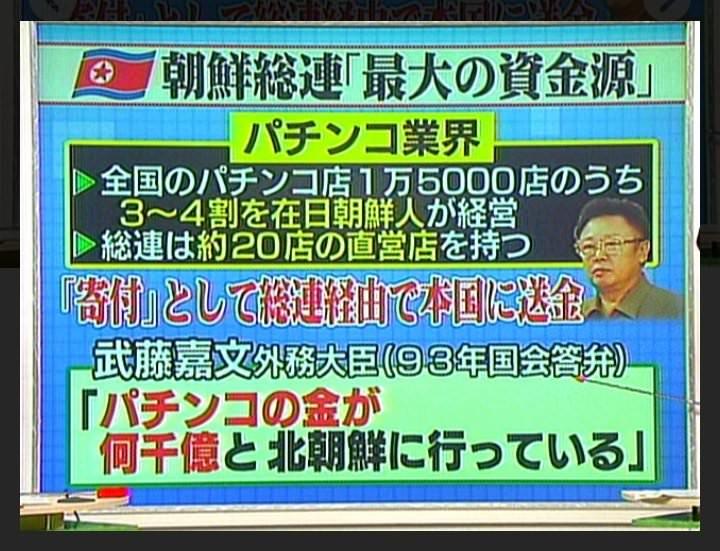 パチンコは朝鮮総連(北朝鮮)最大の資金源