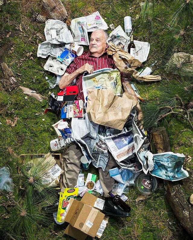 一人暮らしの老人が1週間で出したゴミの量・内訳
