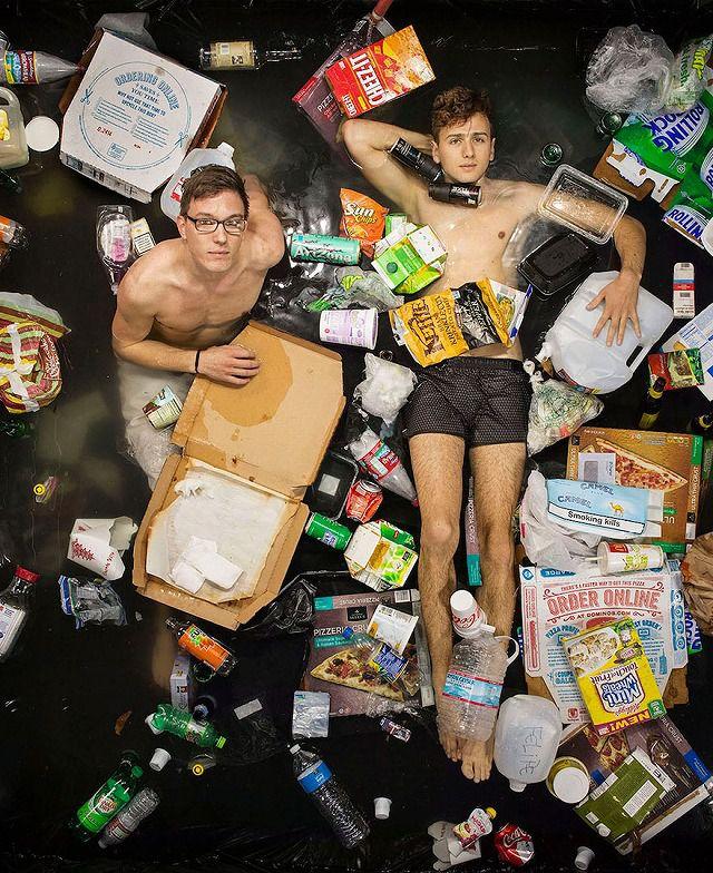 大学生2人が1週間で出したゴミの量・内訳