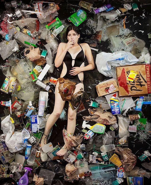 一人暮らしの若い女性が1週間で出したゴミの量・内訳