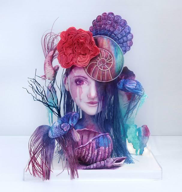 コンクールの優秀デザイン:ホラーな人魚姫のケーキ