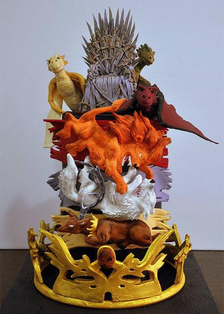 コンクールの優秀デザイン:勇者の王冠やドラゴン、モンスターをモチーフにしたケーキ