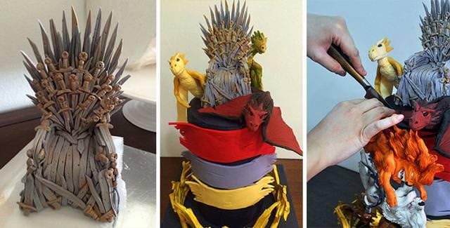 勇者の王冠やドラゴン、モンスターをモチーフにしたケーキの作り方
