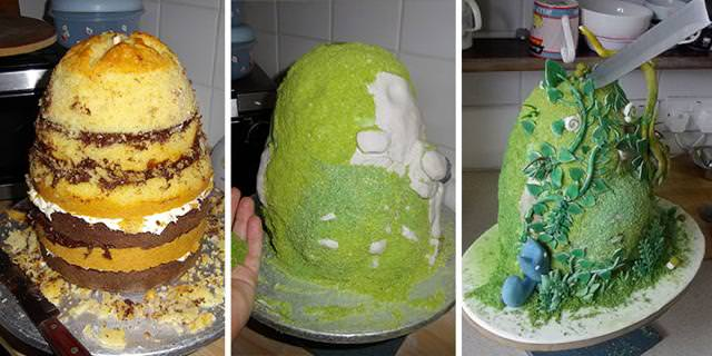森のなかに住んでいるトトロのケーキの作り方