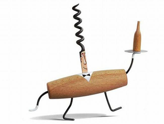 生活用品の面白いデザインのアイディア:コルク栓抜き