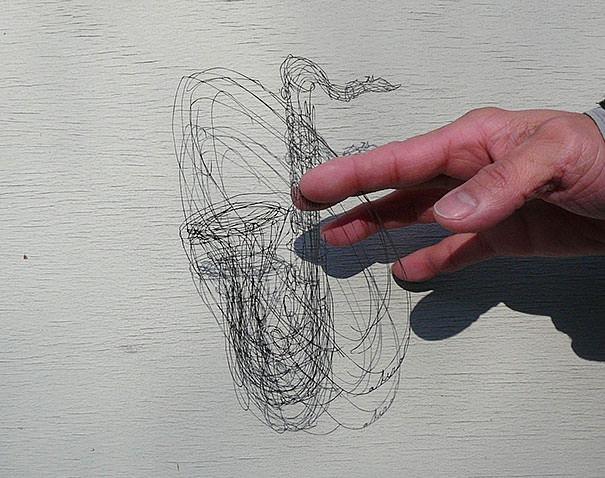 ペーパーアート(切り絵)の立体的なデザイン