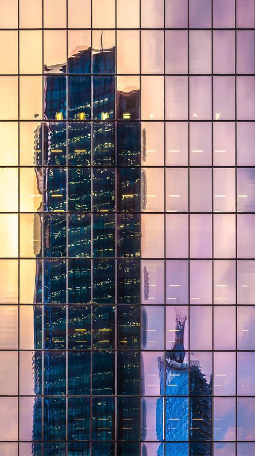 写真トリック:歪んだ超高層ビル