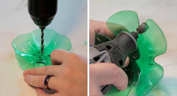 ペットボトル工作:ペットボトルで作られた綺麗なジュエリースタンド