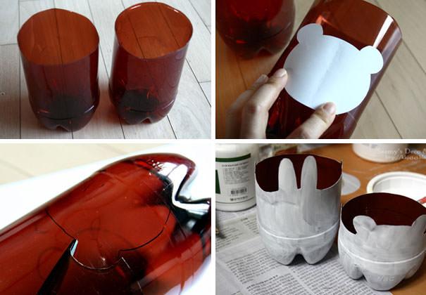 ペットボトル工作:屋内用のキュートなプランター