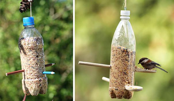 ペットボトル工作:鳥の巣