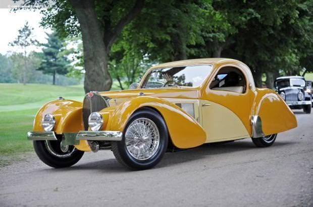 クラシックカー:ブガッティ・タイプ57SC(1937 Bugatti Type 57SC Atalante Coupe)