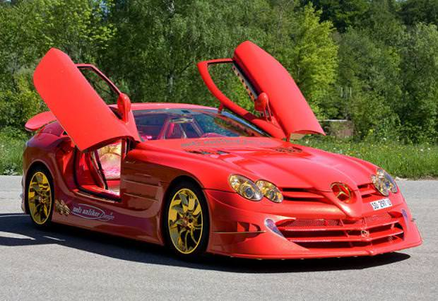 クラシックカー:ベンツ(2011 Mercedes-Benz SLR McLaren 999 Red Gold Dream)