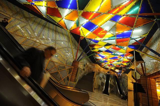 美しい地下鉄駅:Olaias駅(ポルトガル-リスボン)