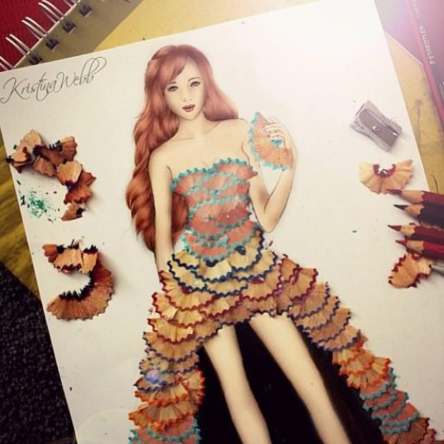 美女たちのコラボ:鉛筆ドレス