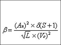 ビール・ゴーグル効果の度合いを表す数式
