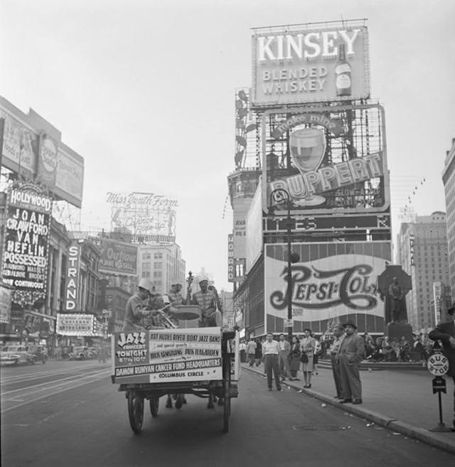 ニューヨークのタイムズ・スクエア(1947年)