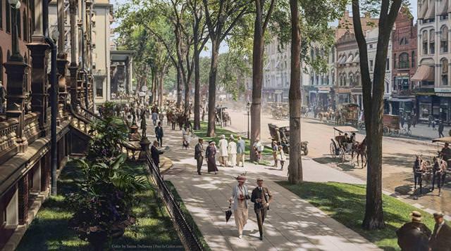 カラー化:ニューヨークのブロードウェイ(1900-1915)