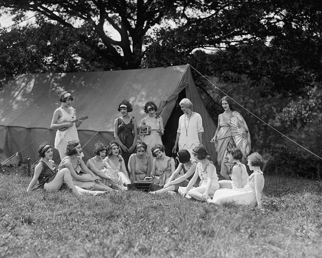 ナショナル・アメリカン・バレエのダンサーたち(1924年)