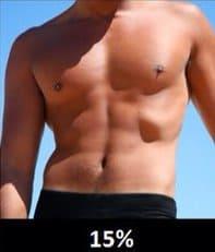 体脂肪率15%の男性