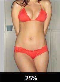 体脂肪率25%の女性