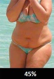 体脂肪率45%の女性