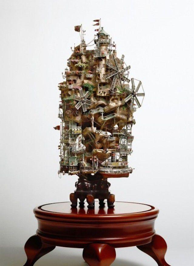 盆栽アート:ハウルの動く城