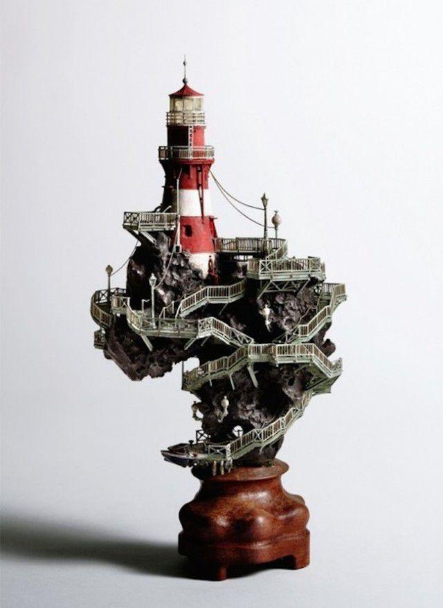 盆栽アート:灯台