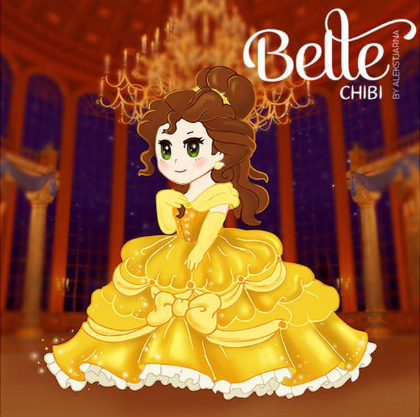 ベル(美女と野獣)の二頭身キャラ