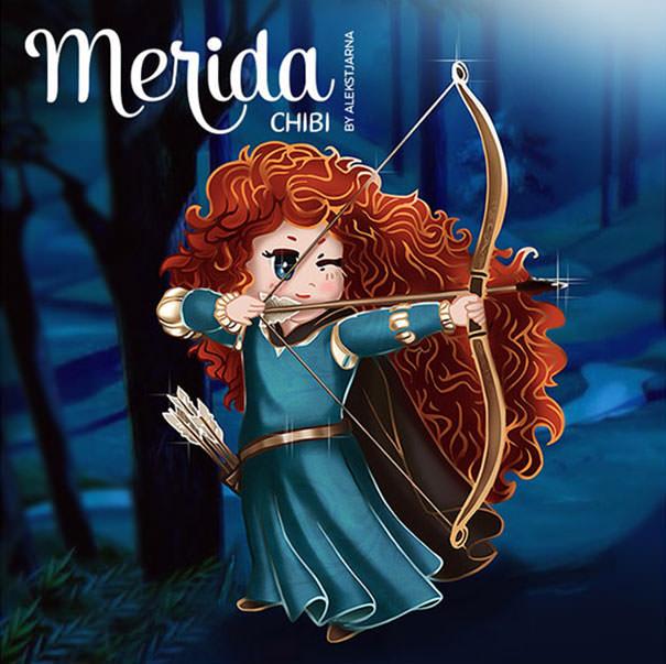 メリダの二頭身キャラ