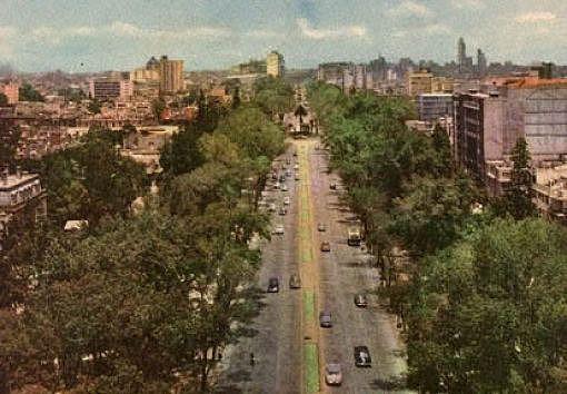1950年のメキシコシティ・レフォルマアベニュー(メキシコ)(mexicoCity-1950)