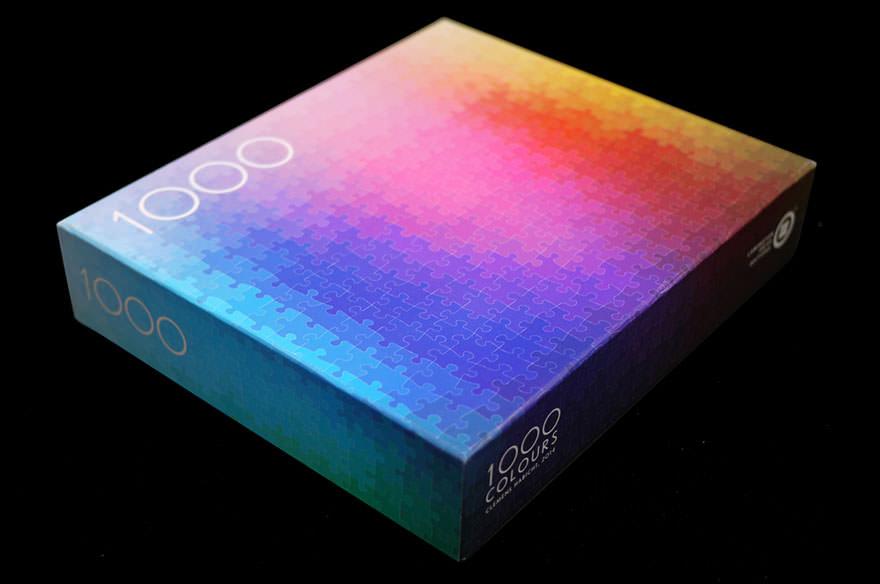 1000ピースCMYKジグソーパズルの箱(パッケージ)
