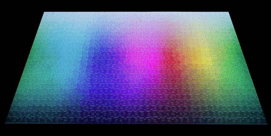 難しくて、美しい、1000ピースのCMYKジグソーパズル