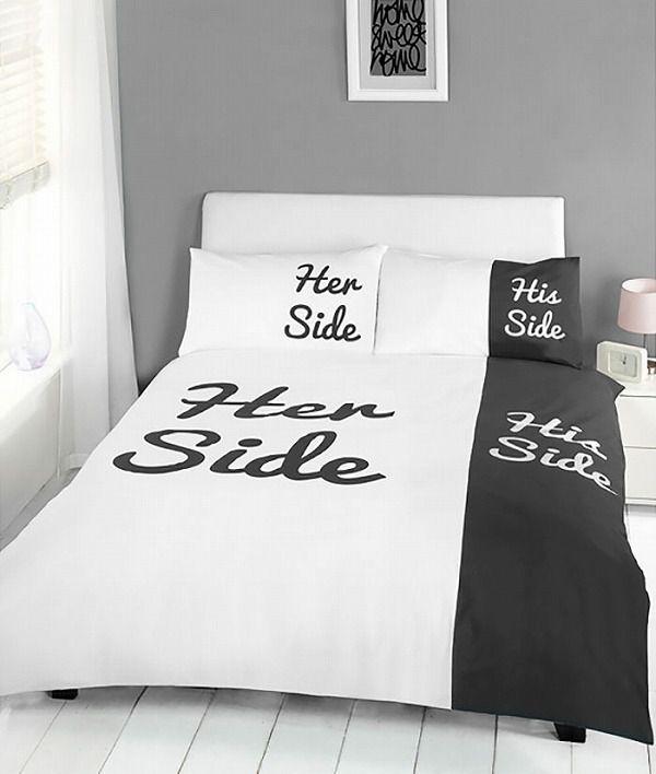 お洒落なデザインの枕カバー&ベッドカバー:男と女の領土争い
