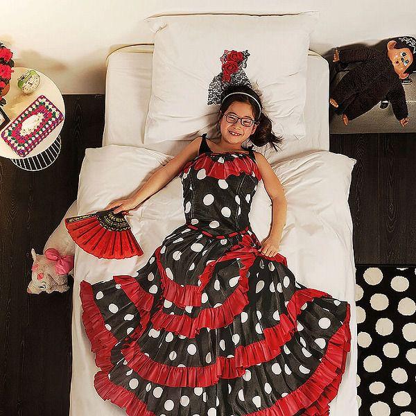 お洒落なデザインの枕カバー&ベッドカバー:フラメンコ