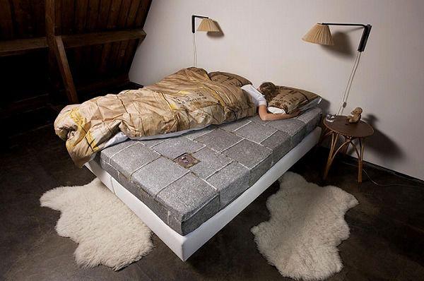 お洒落なデザインの枕カバー&ベッドカバー:道路・ダンボール柄