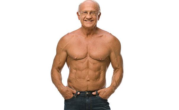 かっこいい老人:ムキムキマッチョの70歳