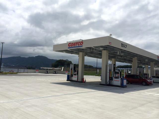 コストコのガソリンスタンド(山形県かみのやま倉庫店)
