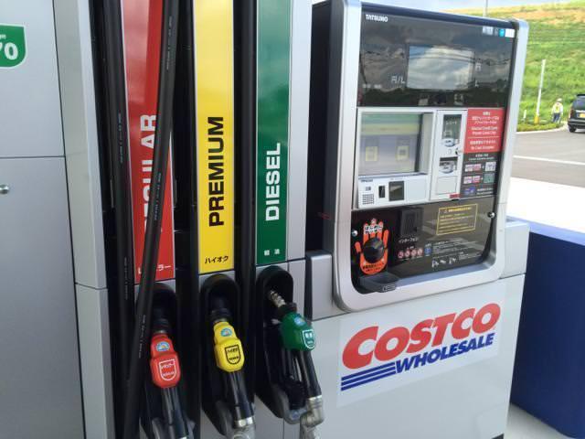 コストコのガソリンスタンドのセルフ給油機