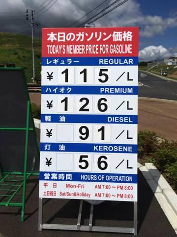 コストコのガソリンスタンドの価格