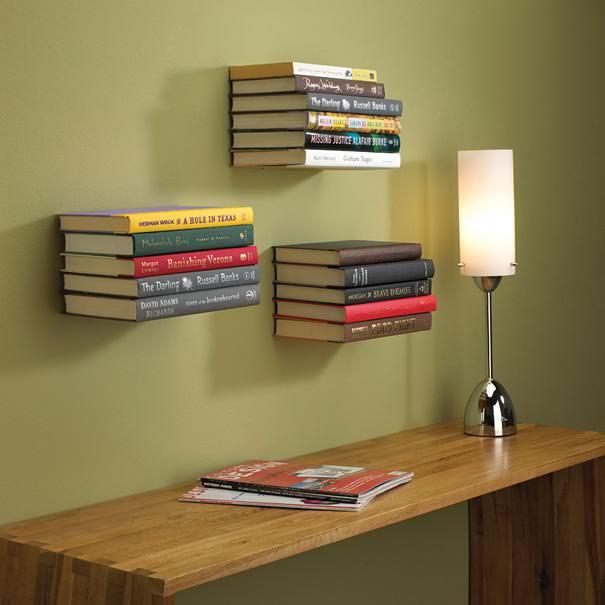 お洒落なデザインの見えない本棚
