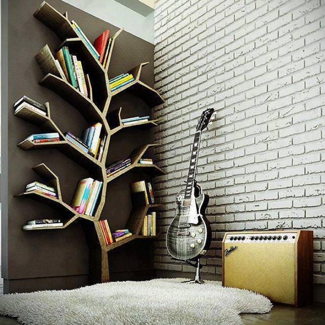 お洒落なデザインの本棚:知恵の樹