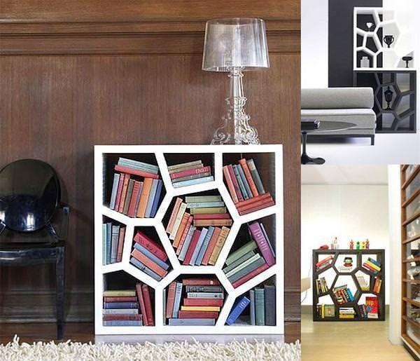 お洒落なデザインの本棚:発泡スチロール製