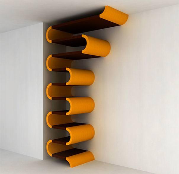 お洒落なデザインの本棚:いろいろと組み立て可能な本棚