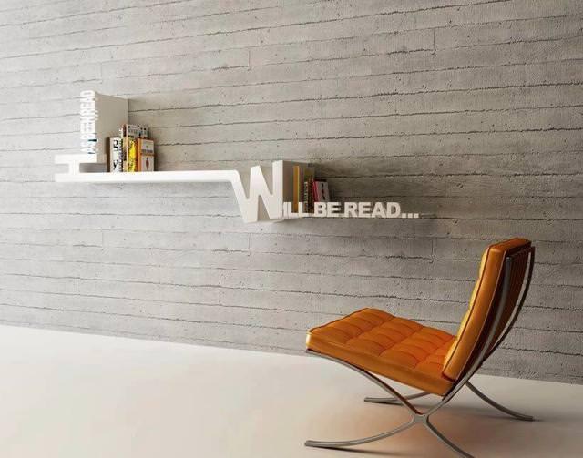 お洒落なデザインの本棚:読破済と未読が一目で分かる