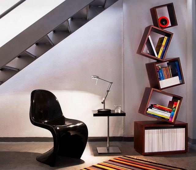 お洒落なデザインの本棚:絶妙なバランス