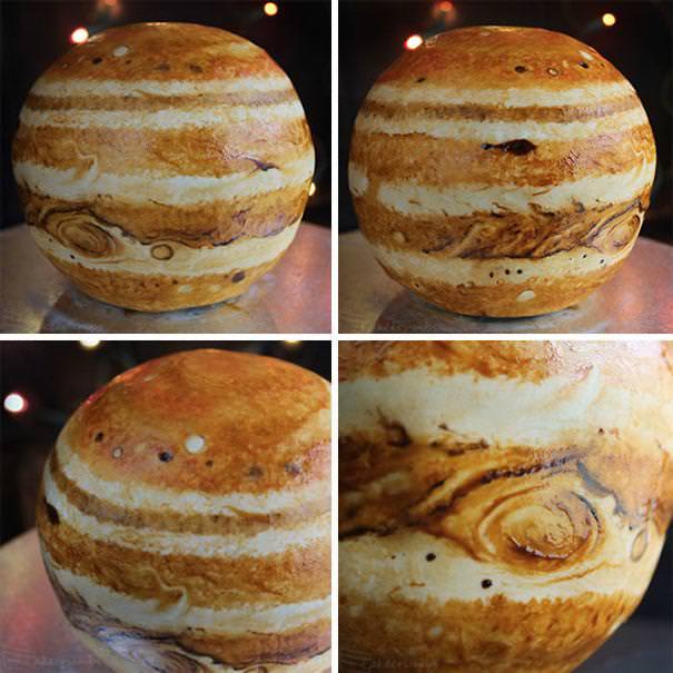 創作ケーキ:木星ケーキ