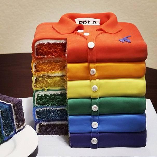 創作ケーキ:ポロシャツ