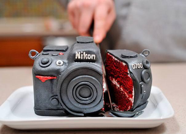 創作ケーキ:Nikonカメラ