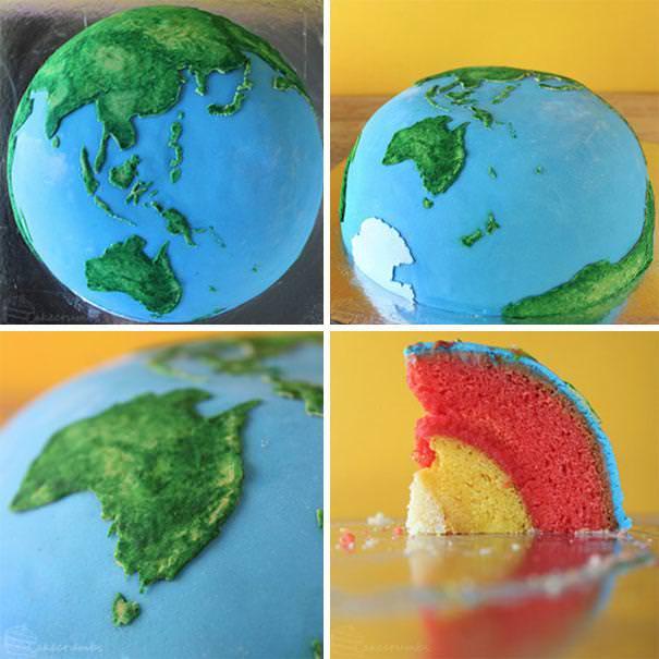 創作ケーキ:地球